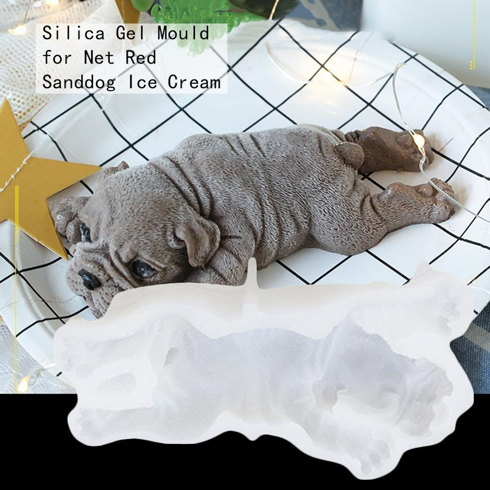 Eco-Friendly Non-Toxic Odorless Harmless 4Inch Sanddog Silica Mould 4/6 Inch Ice Cream Mould Muse Cake Mould(China)