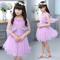 Girls Dresses Summer 2016 Formal Children Tutu Dresses Girls Party Wedding Evening Clothes Elegant Teenager Little Girls Clothes