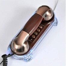 Pared de La manera Montada Teléfono Con Cable de Teléfono Fijo Antiguo Retro Teléfonos Para Home Hotel Pequeña Extensión Telefónica