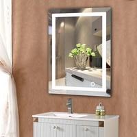 2018 LED Vanity Makeup Lamp Led Mirrror Wall With Touch Button aluminum espelho Modern Rectangular Home Bath Lighting HWC