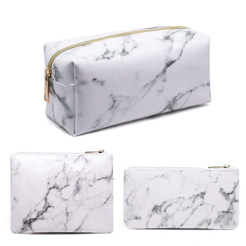 Casual Travel Cosmetic Bag Zipper Makeup Case Organizer Storage Pouch Toiletry Beauty Wash Kit Bags #30