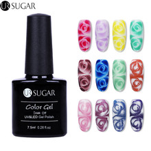 UR SUGAR 2 Bottles White Clear Blossom Gel Glitter Color Gel Pair Soak Off Nail Art UV Gel Polish Manicure Decoration