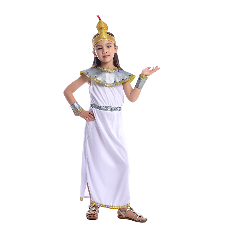 Girls Elegant Cleopatra The Leader Of Ancient Empire One of Egypt Most Famous Pharaoh Historical Halloween Cosplay Costume