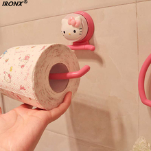 IRONX KT Strength Seamless Wall Suction Hanger Towel Tissue Toilet Paper Holder Rack Bathroom Kitchen Accessories LA5