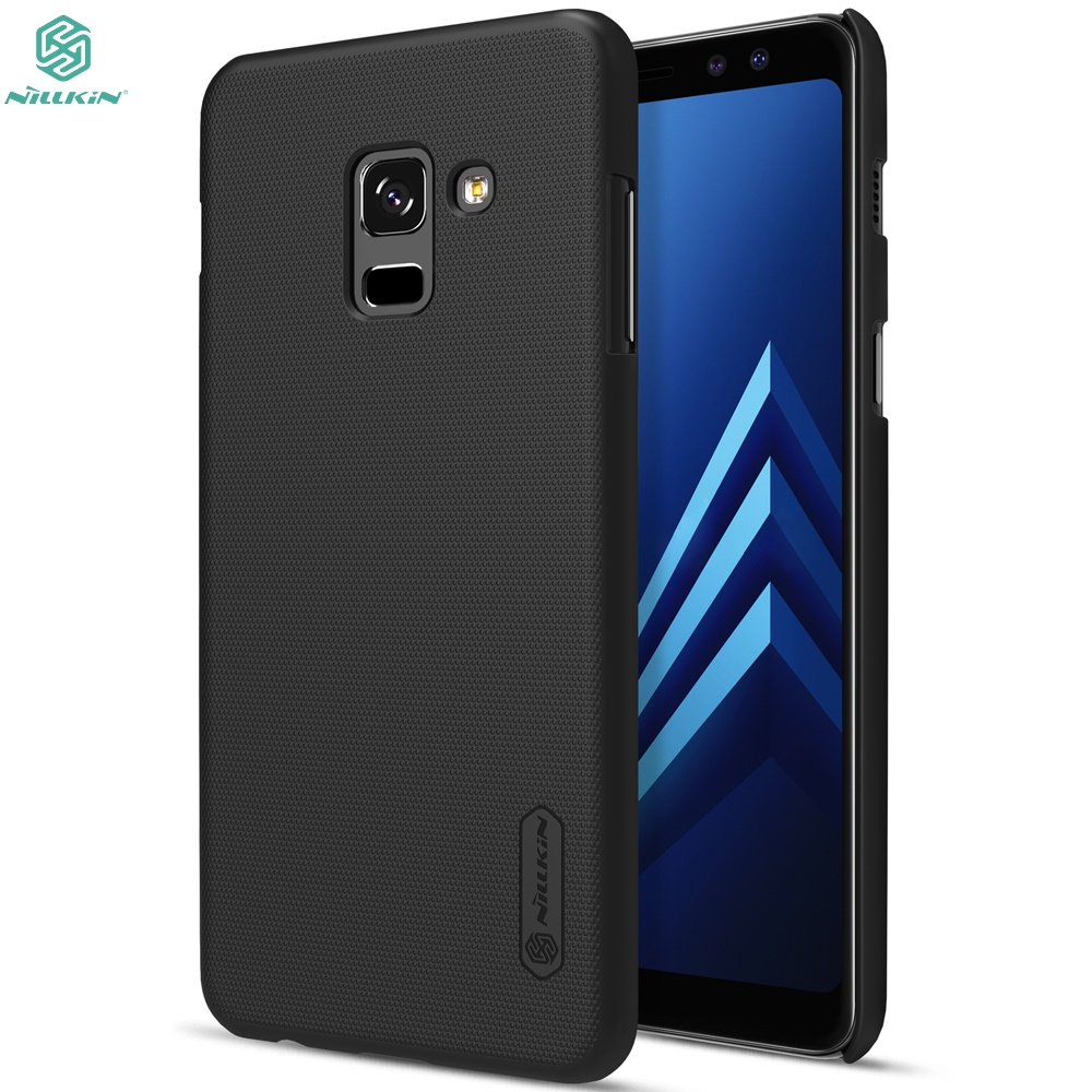 online store 4df1c 6b836 US $7.99 5% OFF|Case For Samsung Galaxy A6 A8 Plus 2018 Case For Samsung  Galaxy A6+ A8+ 2018 NILLKIN Frosted Shield Back Cover Matte Bumper Case-in  ...