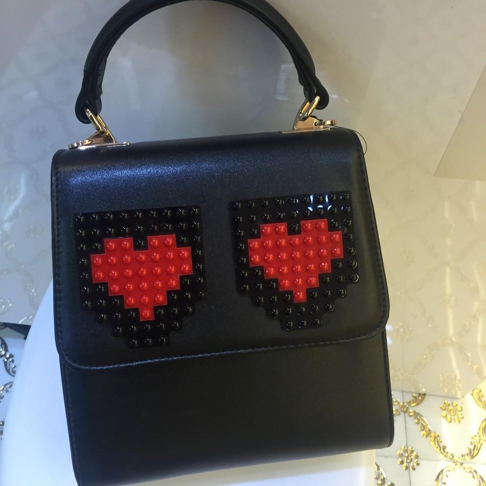 ФОТО 2017 Real Hot Sale Hard Luxury Ladies Handbags Liu Nail Sticks Love Heart Clutch Women Messenger Bag Large-capacity Briefcase