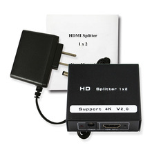Wiistar Free shipping 2 Port HDMI 2.0 Full HD 2160P HDR Splitter Extender 1X2 1 in 2 out 4kx2k/60Hz Support HDCP2.2 3D For PC DV
