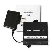 Wiistar Free Shipping 2 Port HDMI 2 0 Full HD 2160P HDR Splitter Extender 1X2 1
