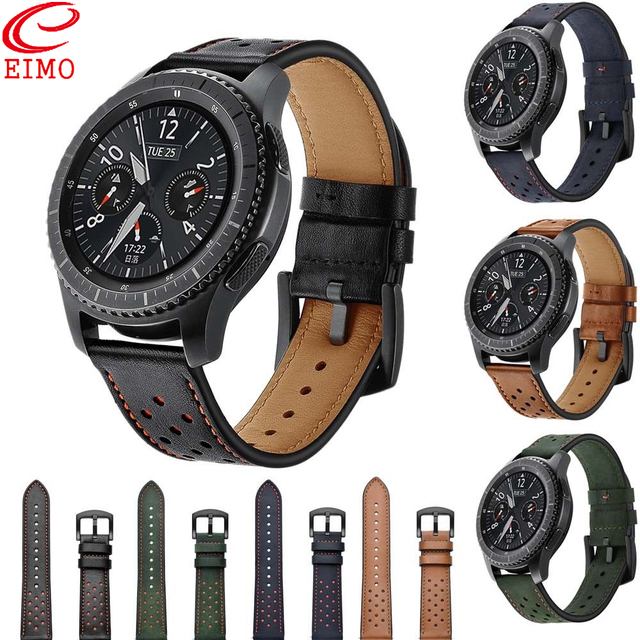 Gear S3 Strap for Samsung Galaxy watch 46mm Frontier Classic band 22mm Retro Gen