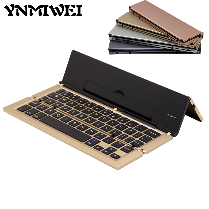 Multifunctional Foldable Bluetooth Keyboard Slim Aluminum Tablet Smart Fashion Wireless Keyboard For IOS Android Windows Stystem