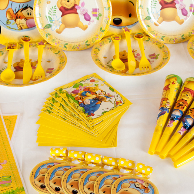 Winnie the Pooh Kids Birthday Party Decoration Set Cars-Plex Party Supplies Baby Birthday Party Pack event party supplies 1