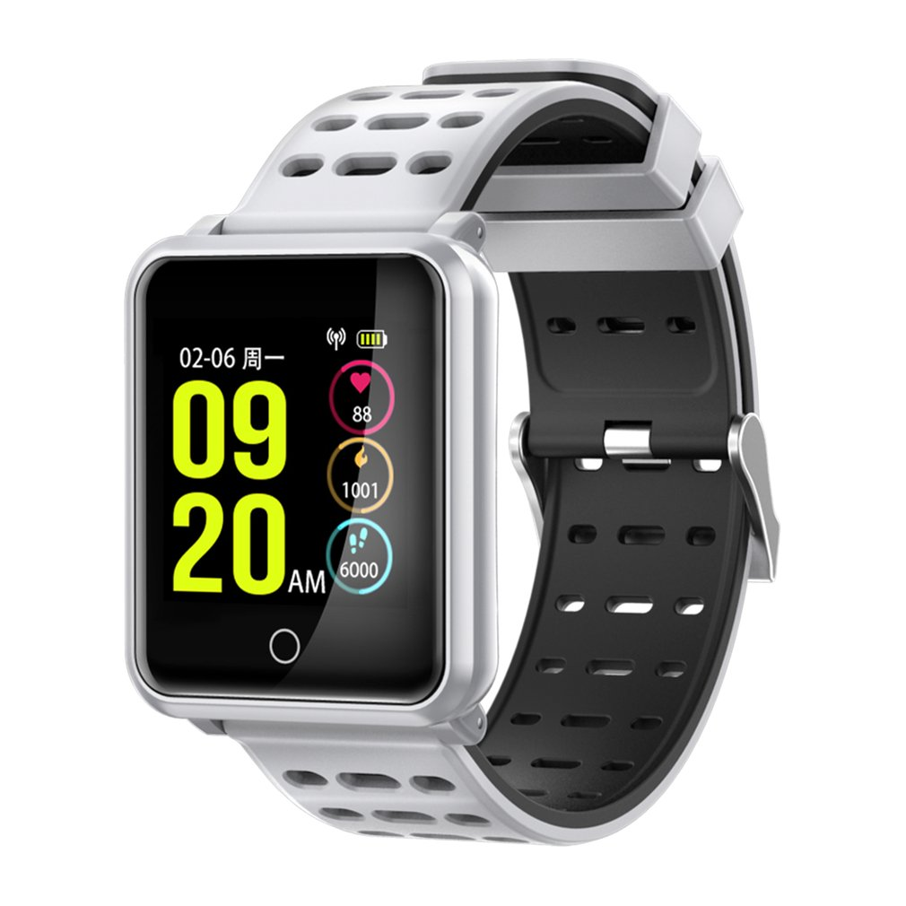 IP68 Waterproof 1.3 Color Screen TF2 Smart Watch Blood Pressure Heart Oxygen Rate Monitor Pedometer Smart Bracelet