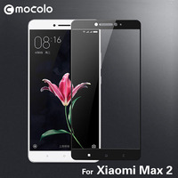 2017 New Arrival Mocolo Screen Protector 9H 2.5D Curved Full Cover Tempered Glass Protective Film For Xiaomi Max 2 Mi Max2