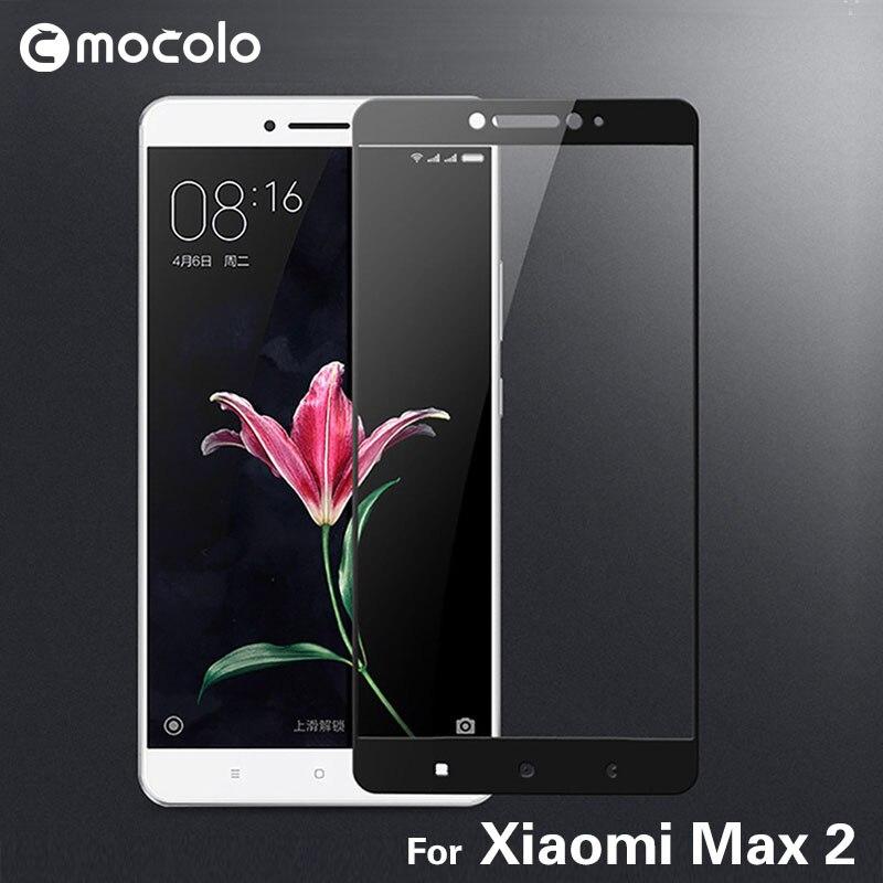 2017 neue Ankunft Mocolo Displayschutzfolie 9 H 2.5D Gebogene Volle abdeckung Aus Gehärtetem Glas Schutzfolie Für Xiaomi Max 2 Mi Max2