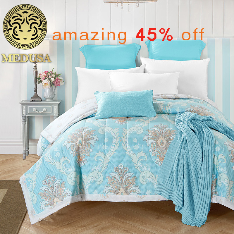 Medusa 100 cotton paisley patterned oriental quilted bedspreads throws single double size 1pc for spring summer