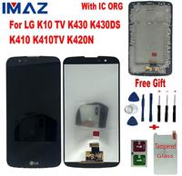 IMAZ Orignal LCD For LG K10 TV LCD K430 K430DS K410 K410TV K420N K430DSF LCD Display Touch Screen Digitizer Assembly With IC