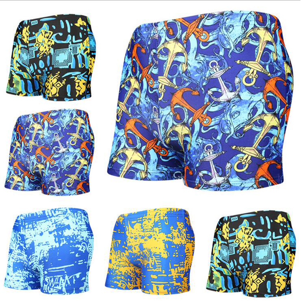 Summer New Beach Bermudas Shorts Swimwear Board Shorts Sweat Beach Surf Mens Swimsuits Bathing Suit Plavky Male Swimming Trunks