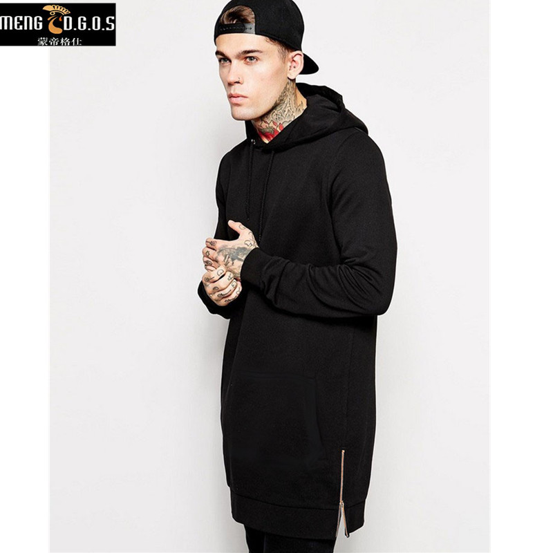 New Arrival Free Shipping Fashion Men's Long Black s