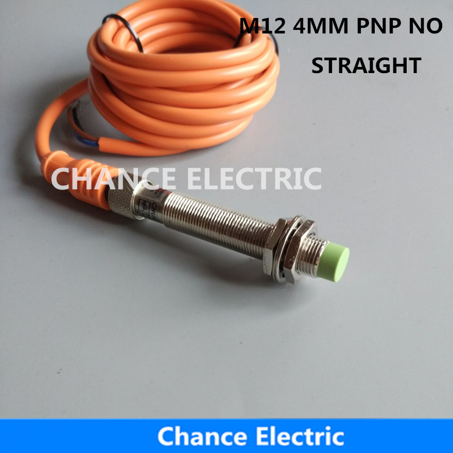 straight M12 PNP NO  4mm inductive proximity sensor switch 180 connector detect distance non-flush type  (IM12-4-DPA-C3) dhl ems 20 sn04 n 4mm approach detect inductive sensor proximity switch dc 10 30v