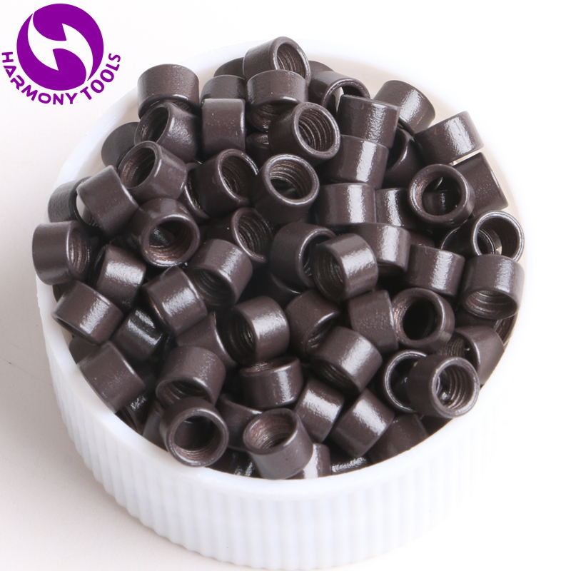HARMONY 10000 Pieces 4.0mm  Aluminum Screw Micro Links Tubes Micro Beads Rings for Stick Hair
