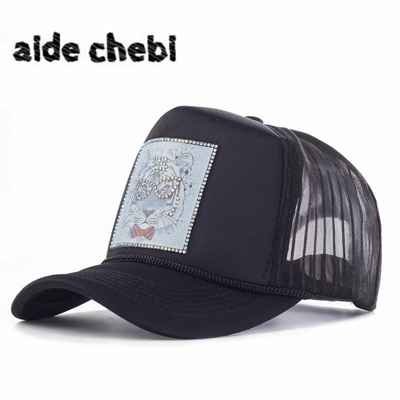 [aide chebi]2017 female baseball caps woman snapback hat denim net cap casquette bone hats for women men Animal cartoon dad hat