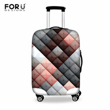 "FORUDESIGNS Travel Luggage Cover Designer Luggage Protective Cover Cute Dustproof Suitcase Cover Elastic Suit for 18""-30"" Inch"