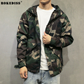 Men fashion hiphop camouflage windbreaker jacket men new spring short causal Motorcycle jacket outwear hooded autumn coat TC452