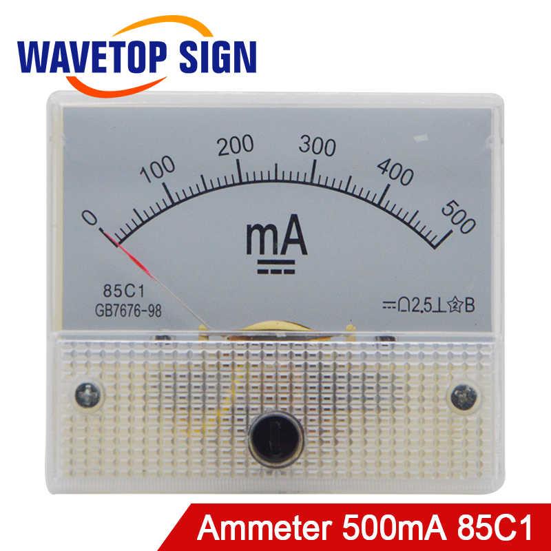 DC500ma ampèremètre 85C1 0-500Ma numérique milliampèremètre analogique panneau ampèremètre courant pour Tube Laser CO2 et alimentation