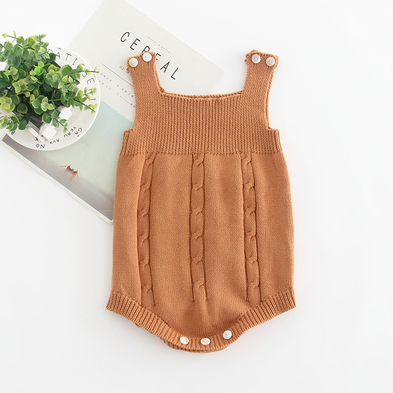 HTB1RjJQKA9WBuNjSspeq6yz5VXaK 2019 High Quality Baby Boy Knit Romper Girls Cute Crochet Rompers Toddler Brand Spring Suspender Infant Lovely Knitting Romper