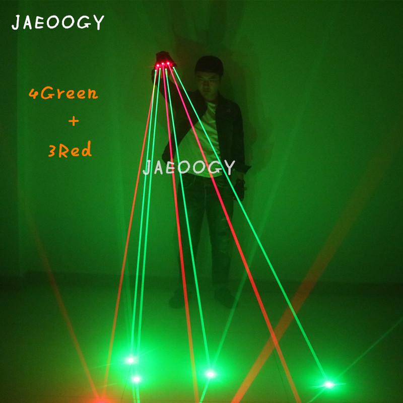 Customized high quality green red laser gloves nightclub lighting LED performance glasses gloves stage party fluorescent