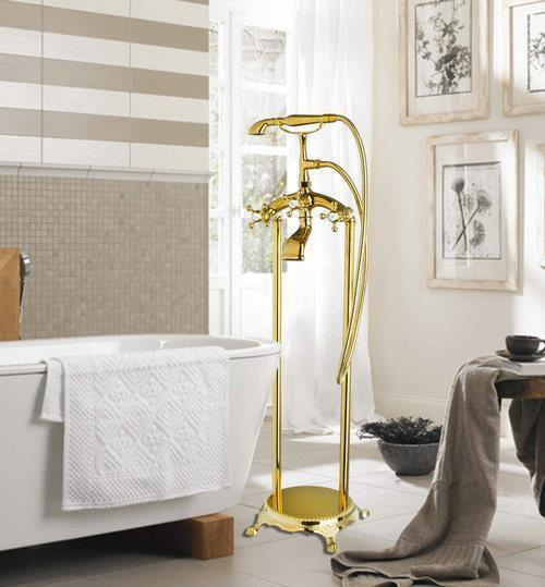 Ross bathtub faucet torneira bathroom new polished golden for Bathroom decor ross