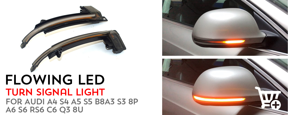 Tapas de retrovisores cromados para audi a3 a4 a5 Facelift desde 2010 acero