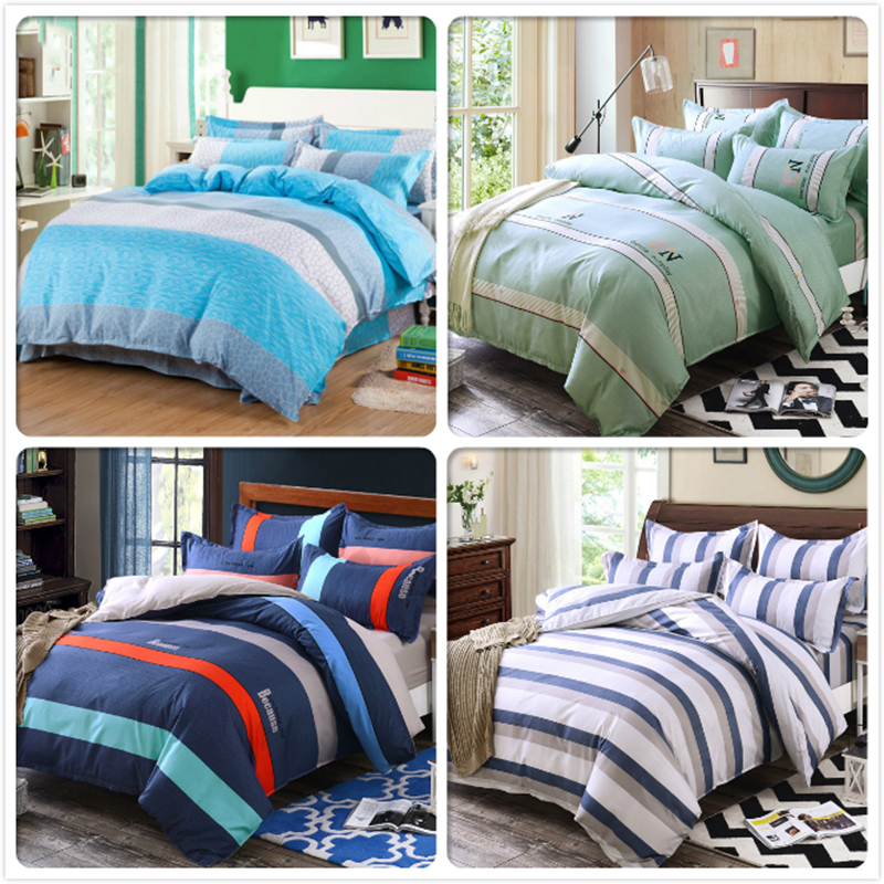 Classic Concise Stripe Duvet Cover 3/4 bedding Sets Couple Size Full King Queen Bed Linens 1.5m 1.8m 2.0m 2.2m Bedsheet Bedsheet