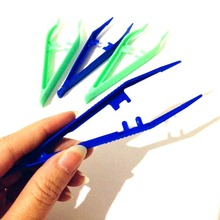 10pcs Plastic Tweezers Medical Beads Small Disposable Tweezers Tools Forceps for Crafts DIY Jewelry Making #281896