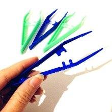 Pinzas de plástico para hacer joyas, 10 Uds., pequeñas pinzas desechables de plástico para manualidades, DIY, #281896