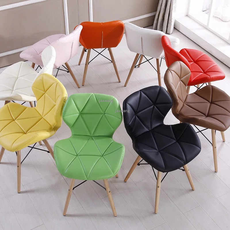 Fashion Modern Minimalist White Chair Creative Office Chair Home Computer Chair Study Backrest Adult Nordic Dining Chair
