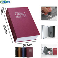 New Design Storage Safe Box Dictionary Secret Book Piggy Bank Money Hidden Secret Security Locker Cash Jewellery With Key Lock