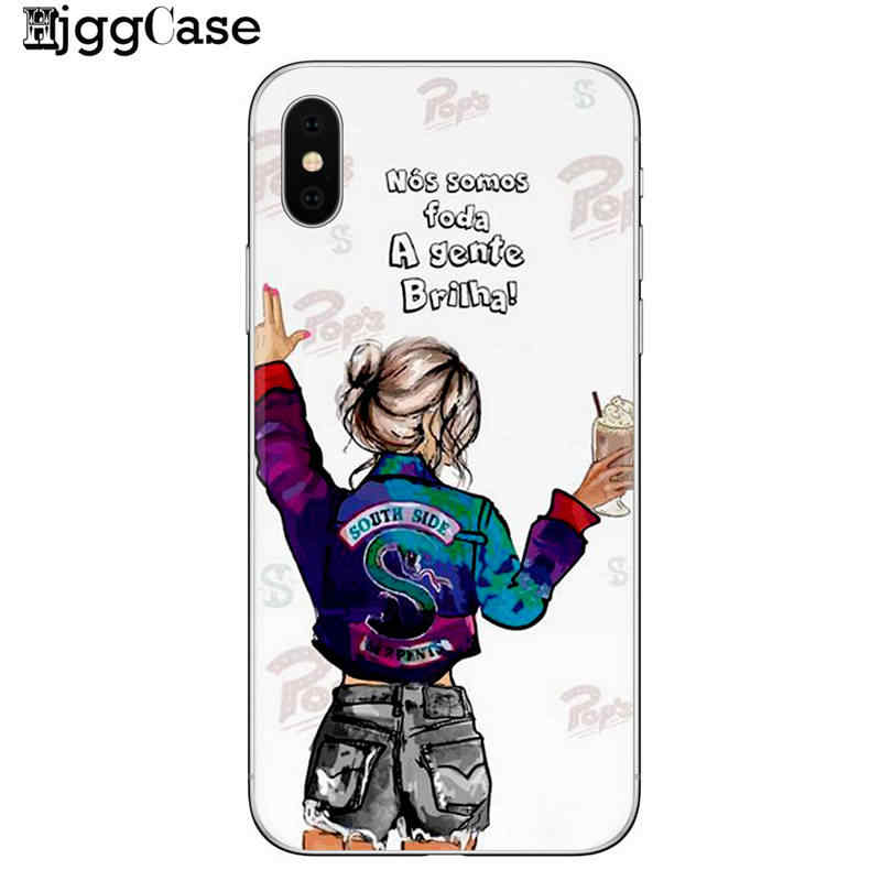 newest d6b8c 61da6 American TV Riverdale Painted phone Case For iphone 6 6s 7 8 Plus 5 5S SE X  XS MAX XR Best Friend Forever bff Cover For iphone 7