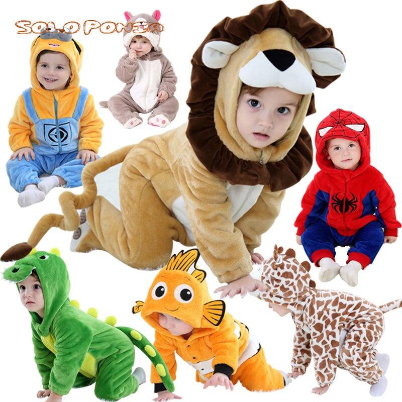 Newborn Baby Boys Girls Romper Jumpsuit Cartoon Animal Cosplay Hooded Bath Robe