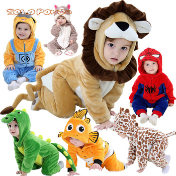 2019 Newborn Baby Girl Clothes Set Cute 3D Costume Jumpsuit Baby Boy Clothes Set Cartoon Rompers Warm Baby Clothing Set 0-4 Y