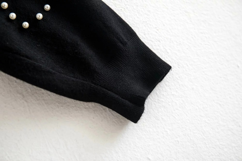 Jenny /& Dave pullover frauen england stil solide oversize drop-schulter perle o-ansatz strickwaren pullover pullover frauen plus größe top