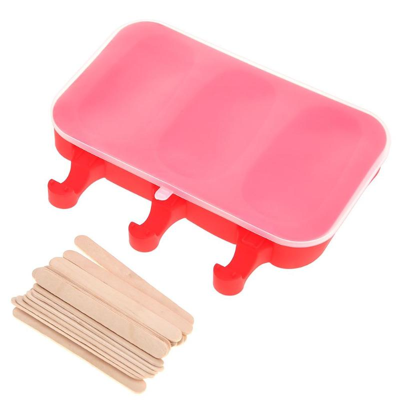 New 3 Hole Silicone Ice Cream Mold Oval Ellipse Shape Summer Jelly Maker Cake Chocolate Mold Tray Cube Tools Frozen Ice Holder ...