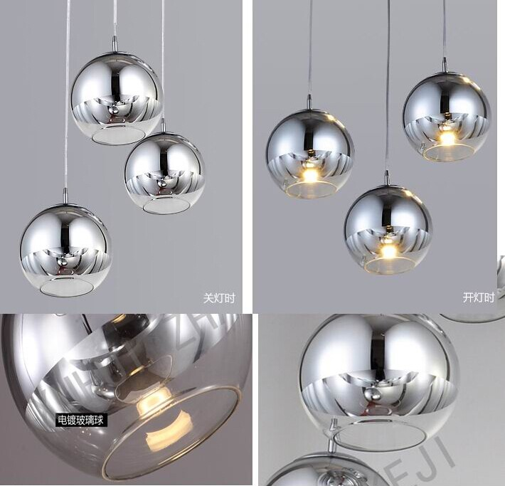 Copper silver mirror ball lustre chandelier led pendant globe copper silver mirror ball lustre chandelier led pendant globe mirror glass ball bubble lamp christmas light fixture in pendant lights from lights aloadofball Images