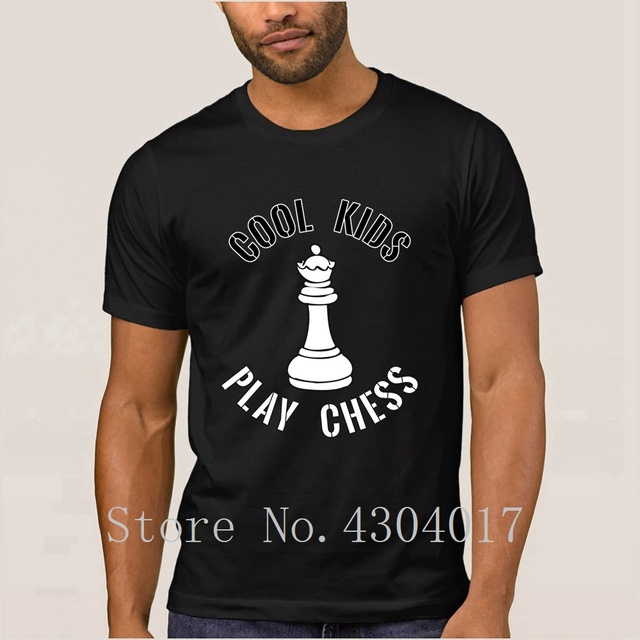 6be59800 Cool Kids Play Chess Queen Piece Gift T-Shirt Round Collar Fit Men's T Shirt  Clothes Homme 100% Cotton Slogan Top Quality