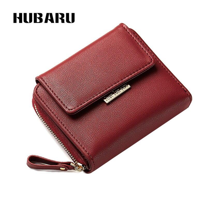 HUBARU New Fashion Kvinnor Korta Plånböcker Magnet Stängning PU - Plånböcker - Foto 2