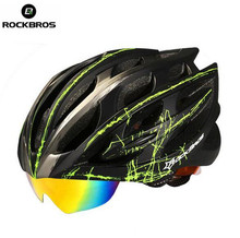 Rockbros Bicycle Helmet Mountain Road Night Riding Safe Reflect Cycling Helmet Head Protect EPS PC With