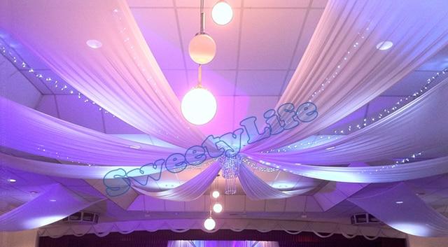 Wedding 12 pieces Ceiling Drape Canopy Drapery for decoration wedding fabric 0.45m*10m per & Wedding 12 pieces Ceiling Drape Canopy Drapery for decoration ...