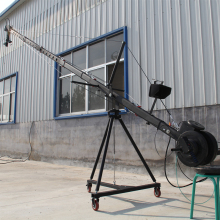 jib crane 6m 2-axis Octagon   pan tilt head portable camera crane dslr  with dolly and monitor Factory supply цена и фото