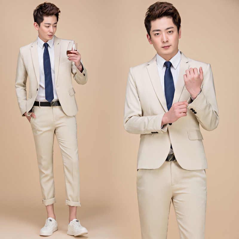 PYJTRL M-5XL 潮男性カラフルなファッションの結婚式のスーツプラスサイズイエローグリーン · ブルー · パープルスーツジャケットとパンツタキシード
