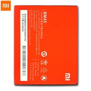 Image 3 - 2018 새로운 xiaomi 원래 휴대 전화 배터리 xiaomi redmi 참고 2 hongmi note2 bm45 교체 배터리 용량 3020 mah